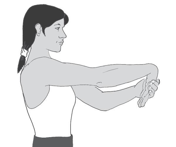 Lateral Epikondilit Fizik Tedavi El Bileği Ekstansiyon Germe Egzersizi